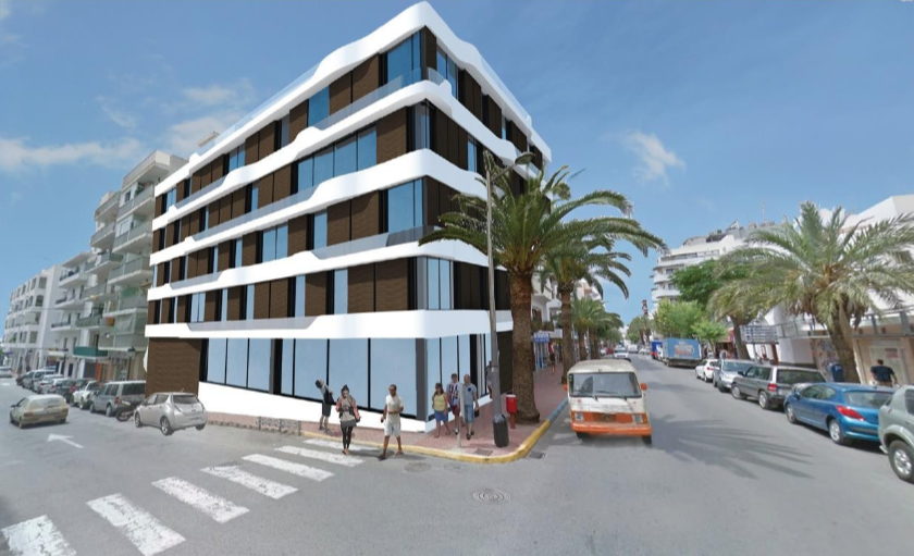 Project with license for boutique hotel in Santa Eulalia