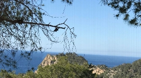 Plot with licence to build a modern villa with sea views in Cala Salada
