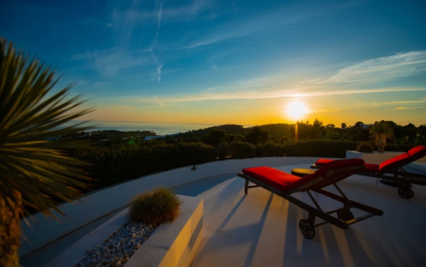 Luxury real estate located in Sant Josep de sa Talaia with sunset views