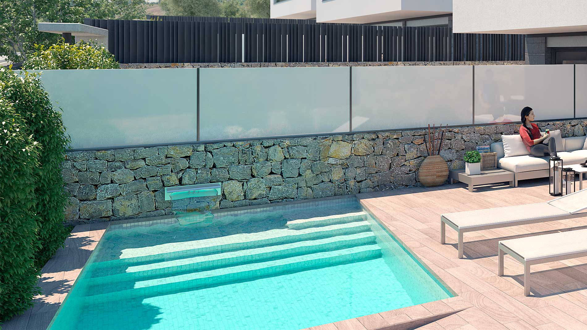Stunning 3 - bedroom villa with terrace and private pool for sale in Ibiza