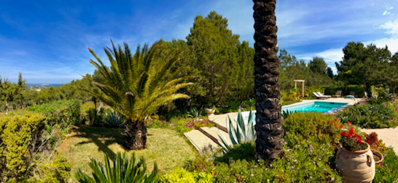One of the most charming fincas with sea views for sale in Ibiza