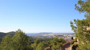 New built villa in Can Furnet with beautiful sea views and views to Ibiza town