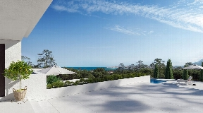 New modern reformend villa located in Cala Moli with fantastic sea views