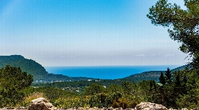 Modern villa located on a 15000m2 rustic plot with sea views near Santa Eulalia