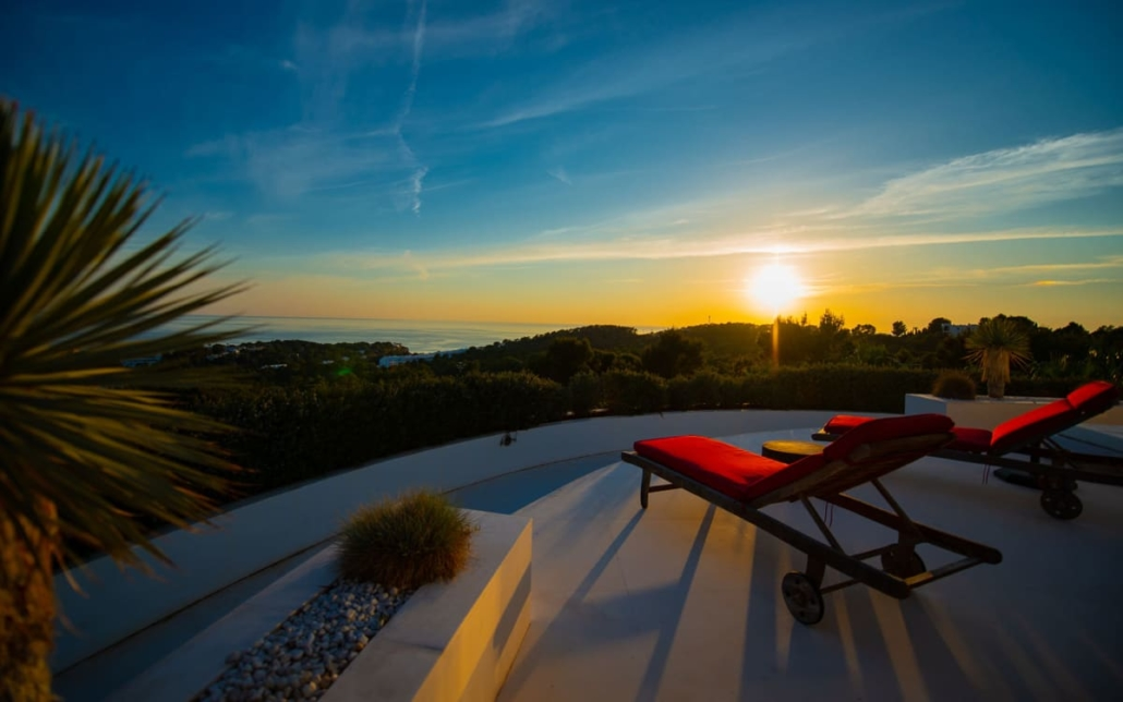 Luxury villas with fantasic sea and sunset views in Cala Tarida