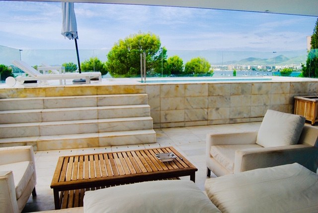 Exclusive luxurious penthouse frontline in Es Pouet with private Pool