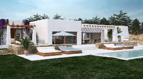 Very nice land with project and licence in the South-West -Ibiza