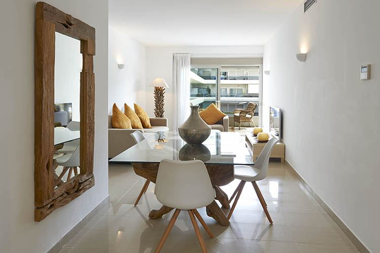 Wonderful apartment for sale with fantastic sea view in Royal Beach, Ibiza