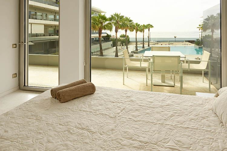 Beautiful 3 floor frontline apartment with fantastic sea views for sale in ibiza
