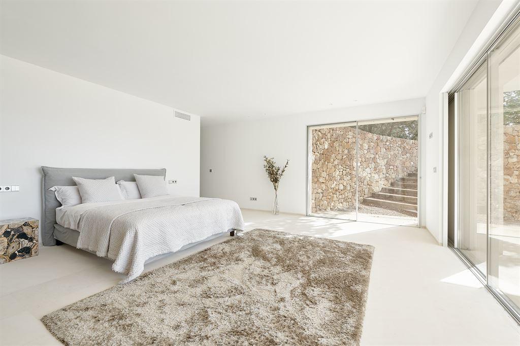Modern villa with stunning sea views close to Es Cubells