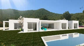 Very nice plot with licence and fantastic views to the sea and Ibiza