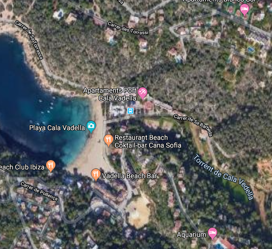 Large urban plot of 6700 m2 to built a hotel with 56 rooms in Cala Vadella - Ibiza