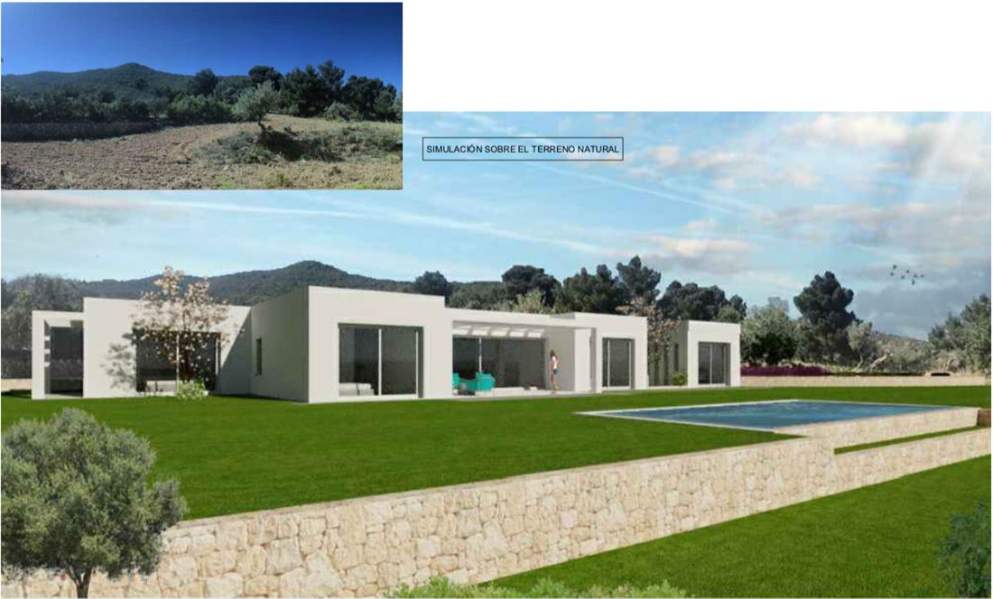 Very nice plot with license and fantastic views to the sea and Ibiza