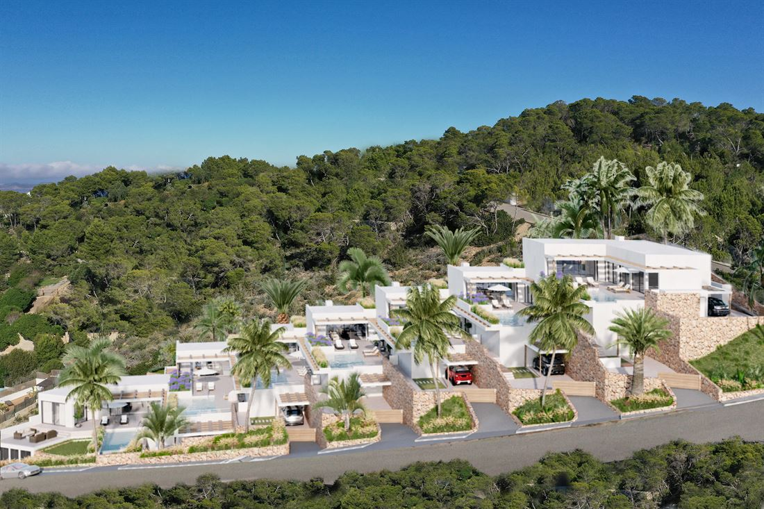 Fantastic villas with sea and Es Vedra views for sale