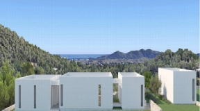 Huge plot of 15.000 m2 with nice modern project with best views