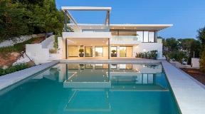 New built villa with fantastic views to Ibiza and Dalt Vila