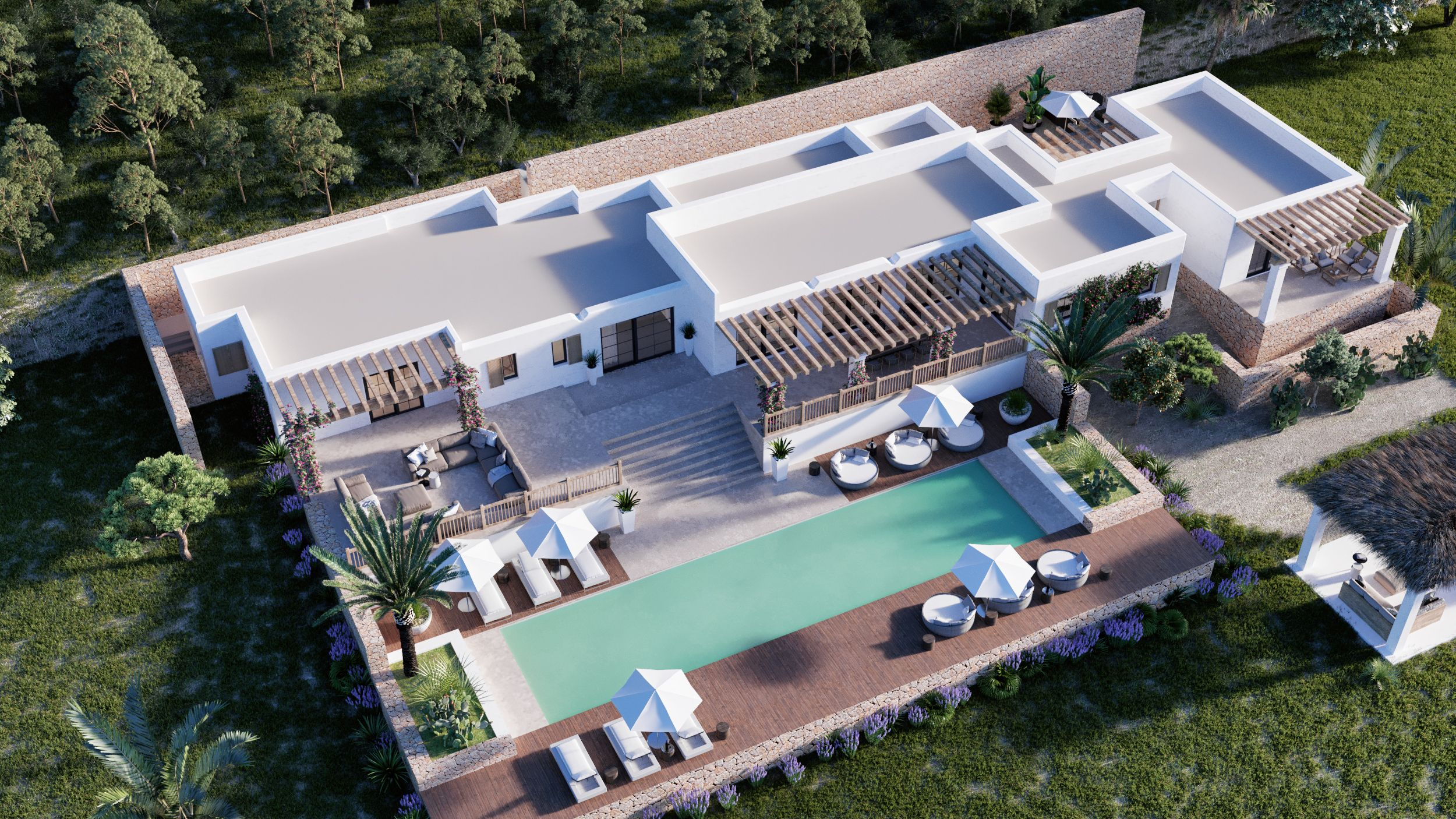 Building plot of 25785 m2 with a building license in Santa Gertrudis