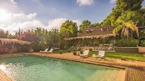 Luxury villa near Ibiza with fantastic tropic garden