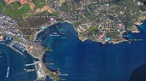 Plot with project and License in best location on Ibiza frontline with access