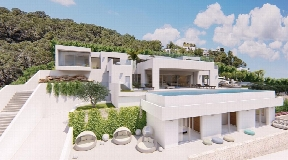 Exceptional land with license and private new villa for sale in Roca Llisa