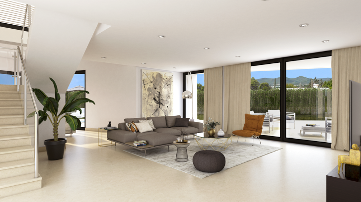 Urban land of 647 m2 with a house of 305m2 in Jesus Ibiza for sale
