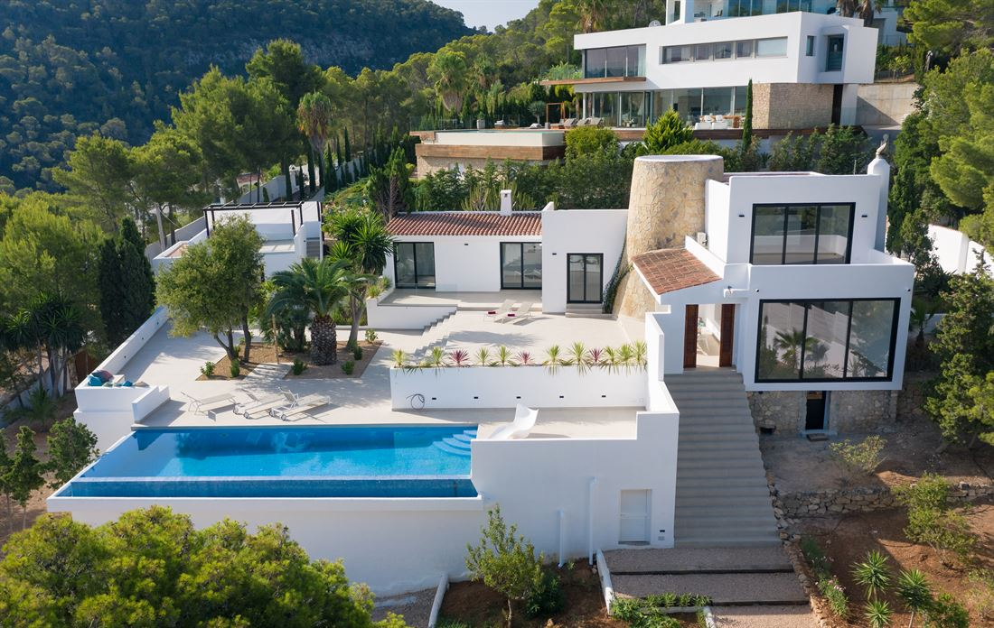 Modern restored villa in Cala Moli with fantastic sea views