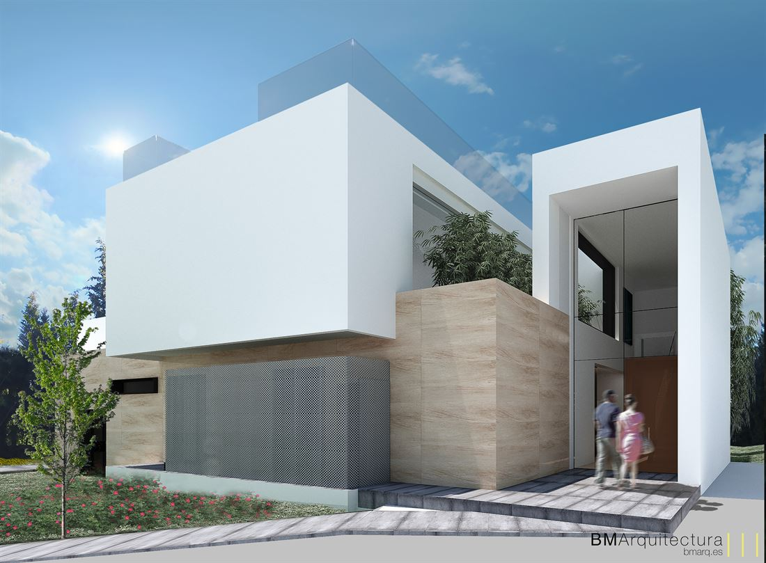 Two plots in Talamanca with a modern project