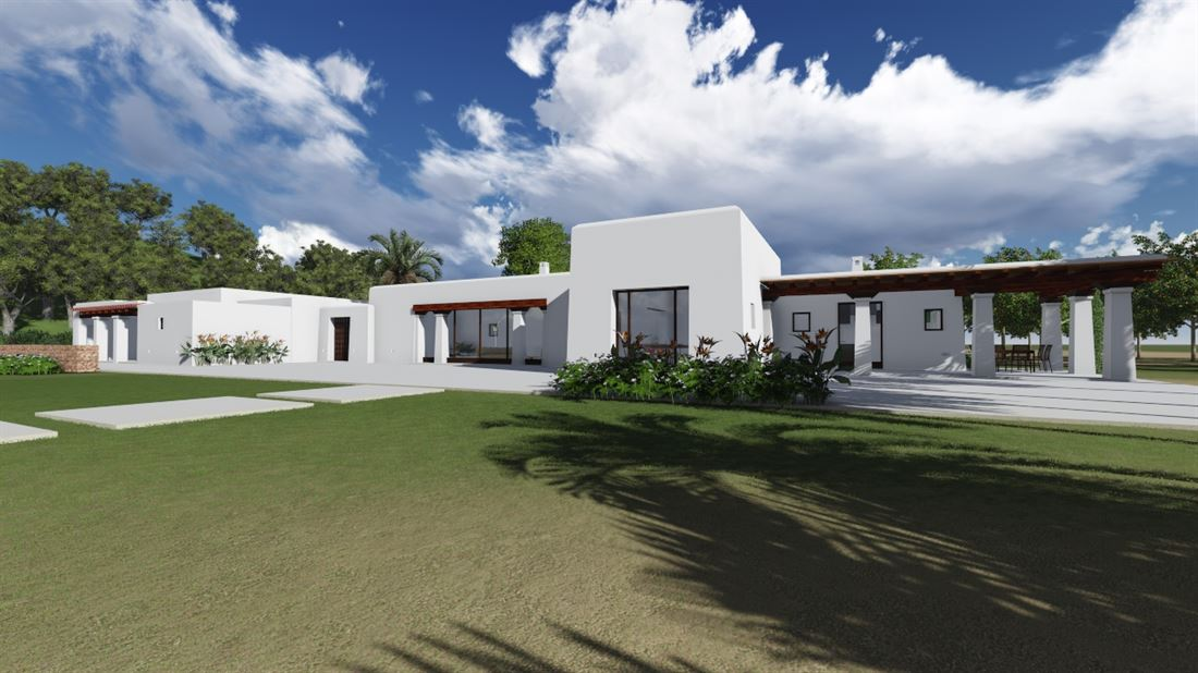 Two plots with nice big land with project for 2 fincas in San Jose