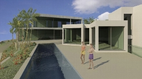 Plot with license to build an ultra-modern villa with fantastic views of the nature reserve in Cala Moli