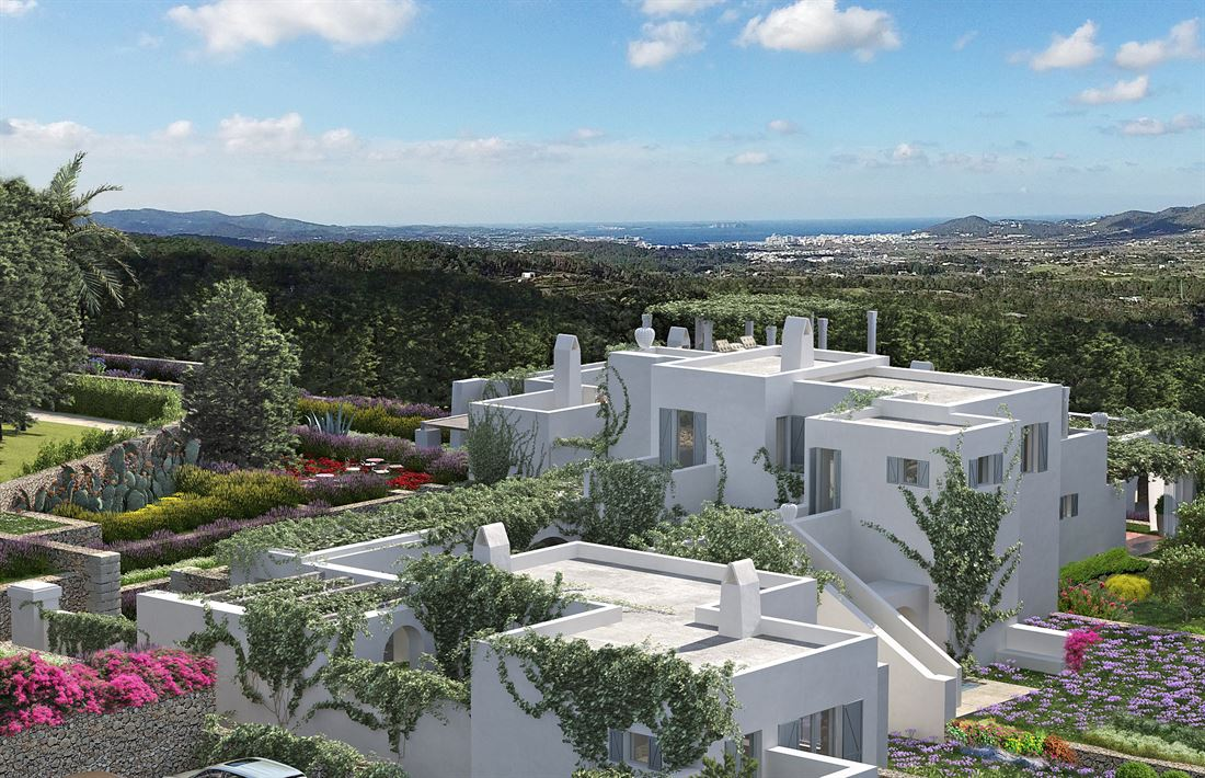 Beautiful plot with lovely views into the countryside and sun setting into the sea