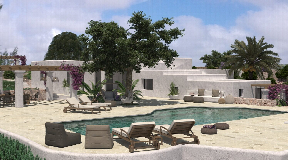 Old Finca for sale with high ceilings and project with sea views