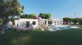 Building plot for sale on a flat land in Santa Gertrudis