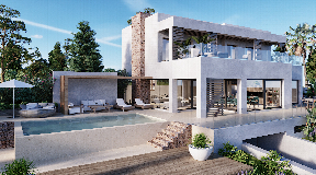 Luxury villa in Can Furnet  with nice views to Dalt Vila and sea